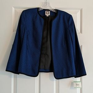 NWT Anne Klein Blue/Black Blazer